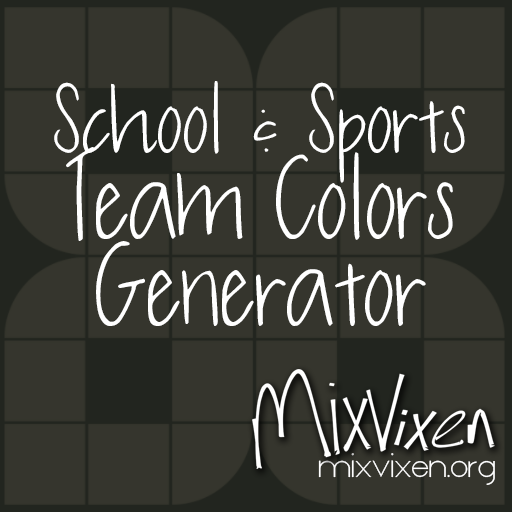 School and Sports Team Colors Generator